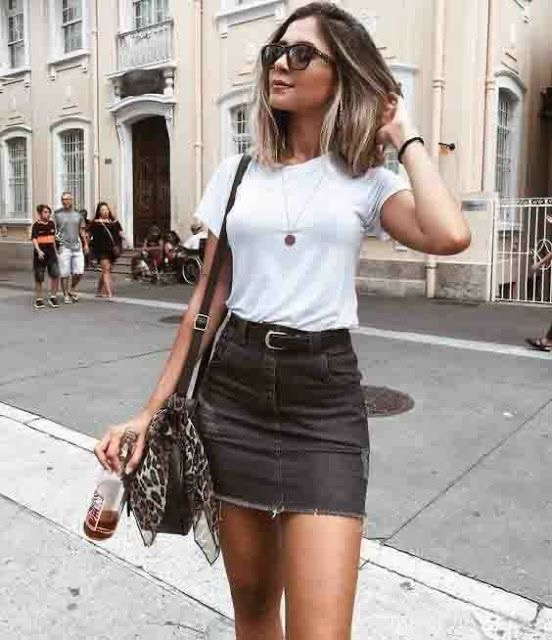 T-shirt and Skirt Outfit Ideas to Love All Summer Long - DIY Darlin'